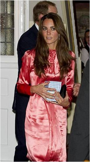 Kate in Stella McCartney at Prince Phillip's 90th birthday dinner at a restaurant