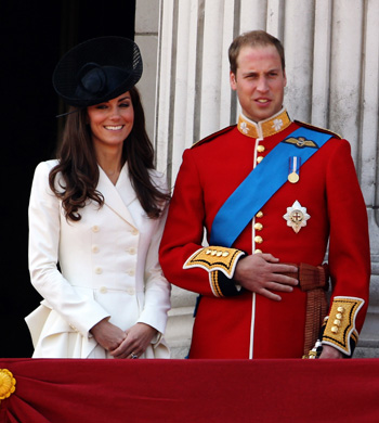 Kate, wearing Alexander McQueen, and Prince William at Trooping the Colour
