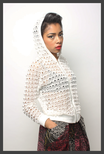 Public Beware lace hoodie