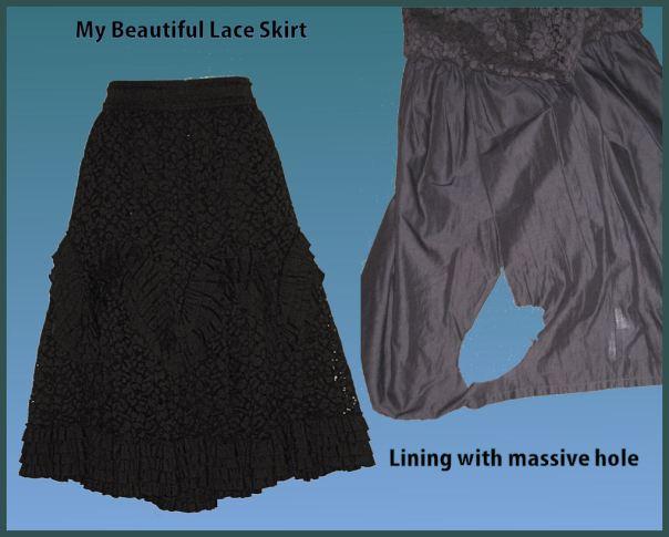 Trademe lace skirt