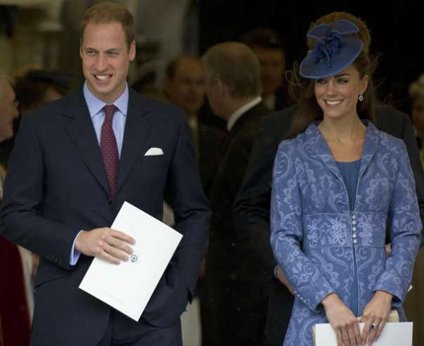 William and Kate, Duchess of Cambridge, at Prince Phillip's birthday church service